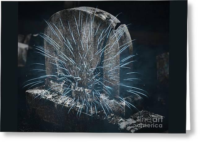 Underworld Encounter Greeting Card by John Stephens