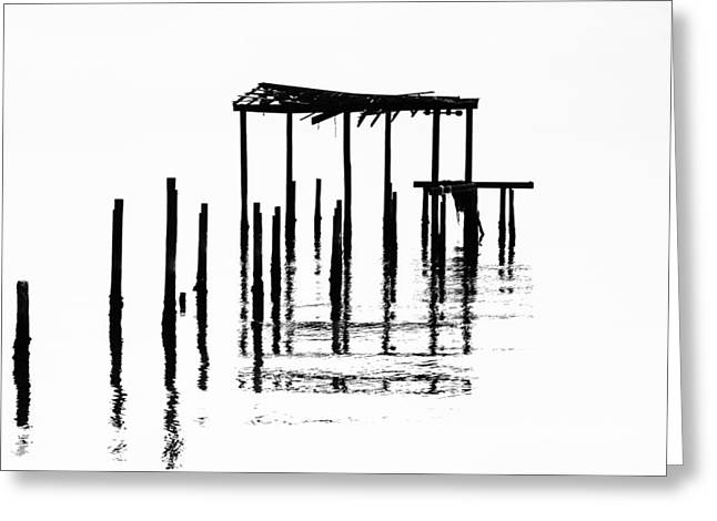 Ocean Black And White Prints Greeting Cards - Undisclosed Greeting Card by Jon Glaser