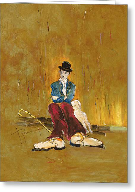 Charlot Greeting Cards - Une vie de chien - orig. for sale Greeting Card by Bernard RENOT
