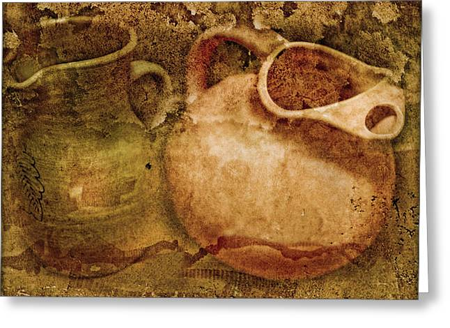 Pottery Pitcher Digital Greeting Cards - Unearthed Greeting Card by John Anderson