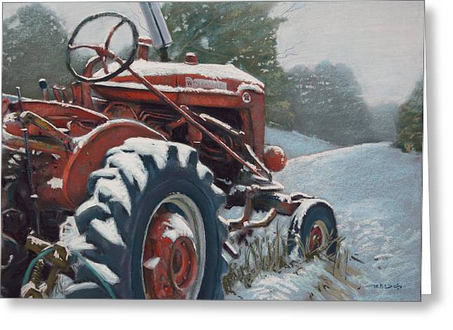Winters Pastels Greeting Cards - Unemployed Greeting Card by Christopher Reid