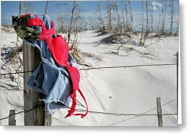 Skinny Greeting Cards - Unencumbered in Destin  Greeting Card by JC Findley