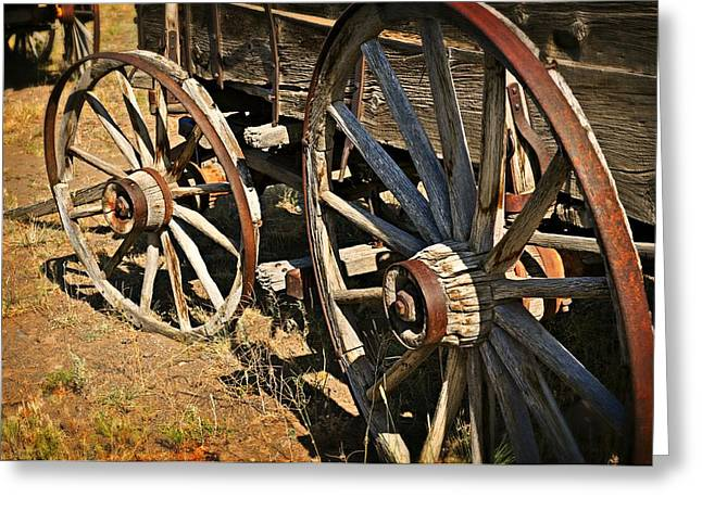 Unequal Wheels Greeting Card by Marty Koch