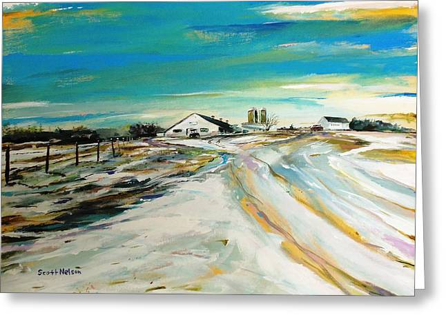 Millbury Greeting Cards - Unexpected Dusting Sutton MA Greeting Card by Scott Nelson