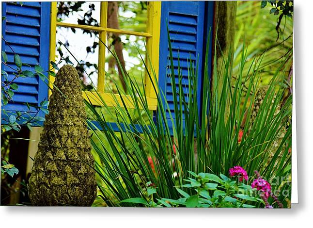Garden Statuary Greeting Cards - Unexpected Greeting Card by Julie Adair
