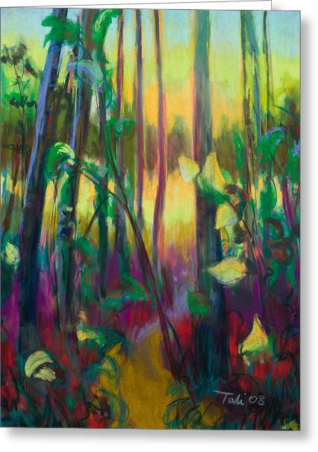 Loose Greeting Cards - Unexpected Path - through the woods Greeting Card by Talya Johnson