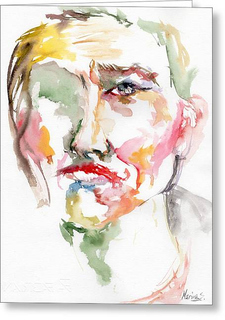 Original Robert Plant Paintings Greeting Cards - Unfaced Greeting Card by Marina Sotiriou