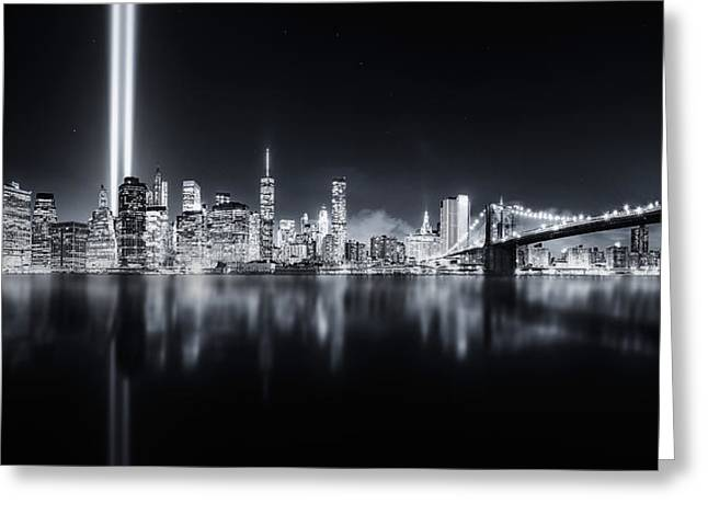 Unforgettable 9-11 Greeting Card by Javier De La