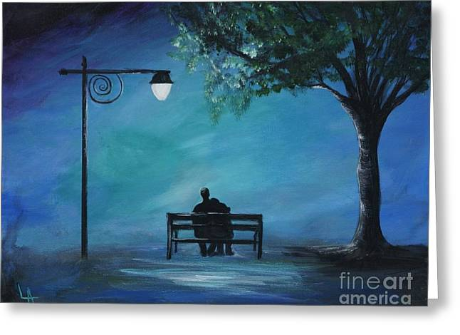 Recently Sold -  - Wife Greeting Cards - Unforgettable Evening Greeting Card by Leslie Allen