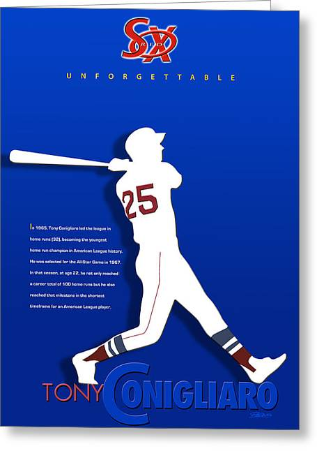 Boston Red Sox Poster Greeting Cards - Unforgettable Greeting Card by Ron Regalado