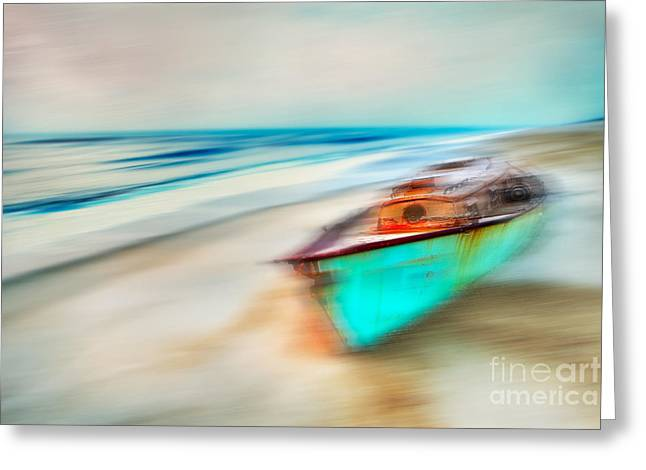 Surreal Landscape Greeting Cards - Unfortunate Tides - a Tranquil Moments Landscape Greeting Card by Dan Carmichael