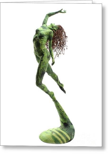 Female Sculptures Greeting Cards - Unfurled Greeting Card by Adam Long