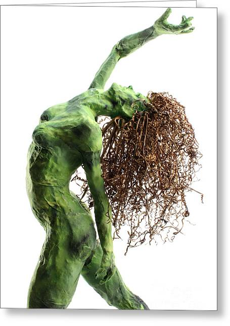 Women Sculptures Greeting Cards - Unfurled detail Greeting Card by Adam Long