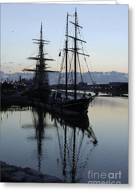 Wooden Ship Greeting Cards - Unicorn at Dawn Greeting Card by Snapshot  Studio