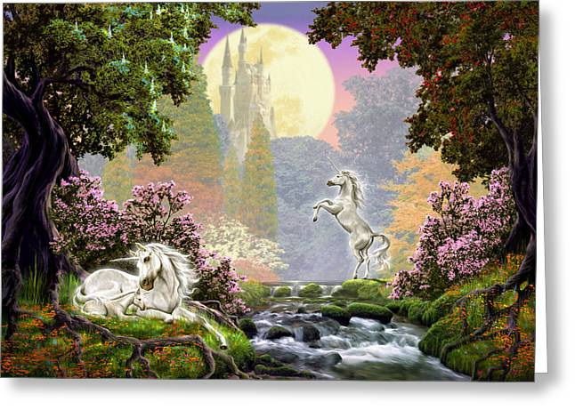 Unicorn New Born Greeting Card by Garry Walton