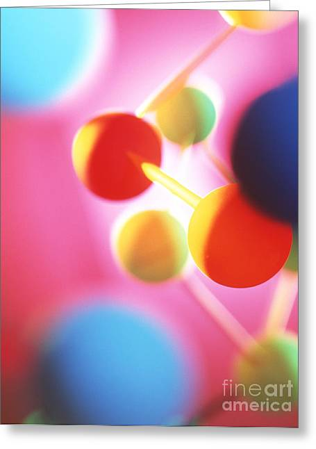 Molecular Models Greeting Cards - Unidentified Chemical Greeting Card by Tek Image