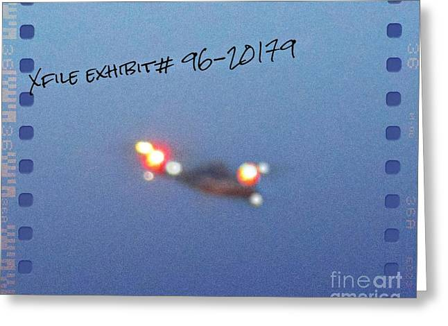 Xfiles Greeting Cards - Unidentified Flying Object Greeting Card by John Malone