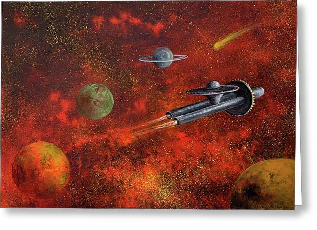 Unidentified Flying Object Greeting Card by Randol Burns