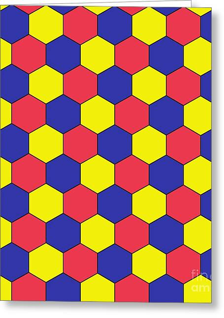 Platonic Greeting Cards - Uniform Tiling Pattern Greeting Card by Spl