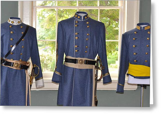 The General Lee Greeting Cards - Uniforms of the Civil War Greeting Card by Kathy Lyon-Smith