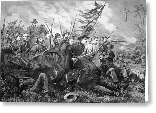 Union Charge At The Battle Of Gettysburg Greeting Card by War Is Hell Store