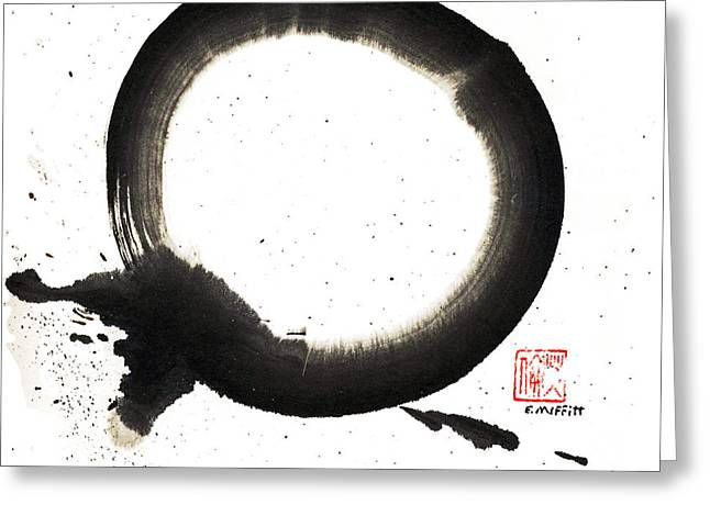 Mind-body-spirit Greeting Cards - Union Enso Greeting Card by Ellen Miffitt