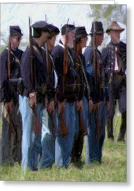 150th Commemoration Digital Art Greeting Cards - Union Formation - Richmond KY Greeting Card by Thia Stover