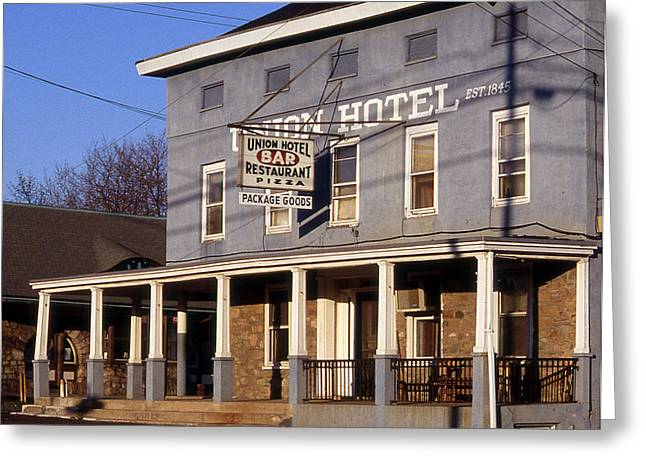 Union Hotel Greeting Card by Skip Willits