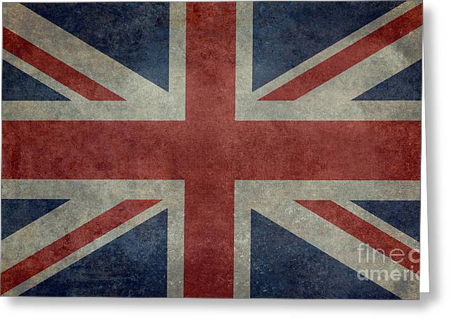 Steeler Nation Greeting Cards - Union Jack 3 by 5 Version Greeting Card by Bruce Stanfield