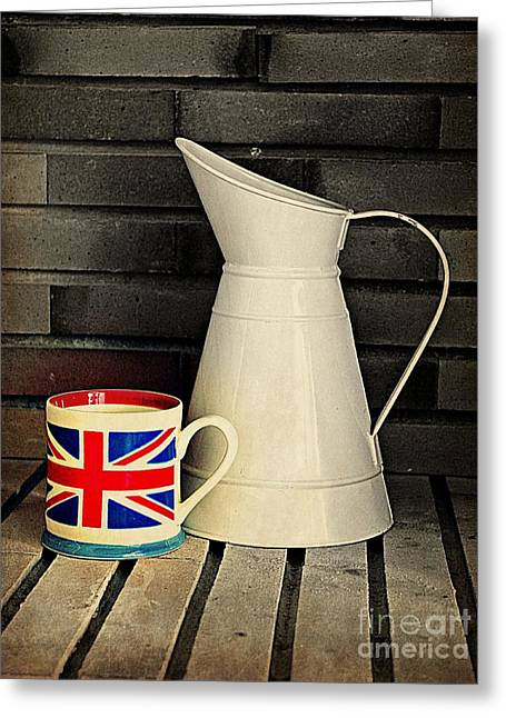 British Royalty Digital Greeting Cards - Union Jack Greeting Card by Clare Bevan