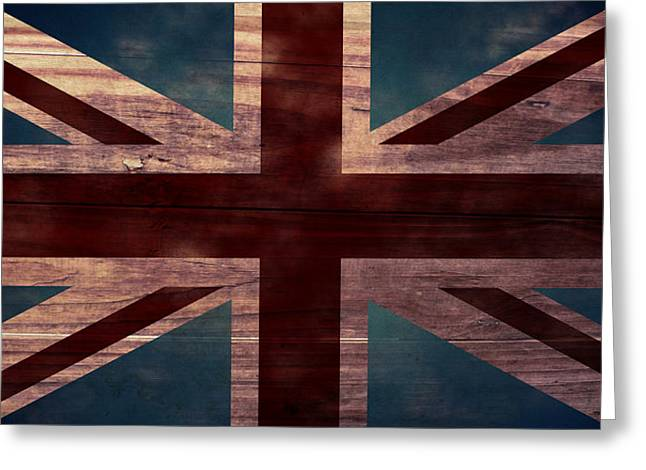 Duchess Greeting Cards - Union Jack I Greeting Card by April Moen