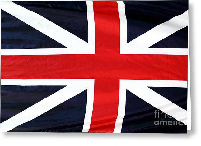 Still Life Photographs Greeting Cards - Union Jack Greeting Card by John Rizzuto