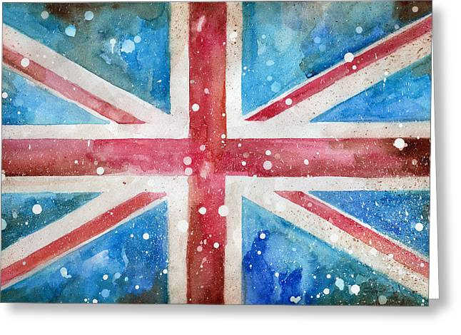 Def Leppard Paintings Greeting Cards - Union Jack Greeting Card by Sean Parnell
