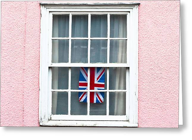 Partriotic Greeting Cards - Union jack Greeting Card by Tom Gowanlock