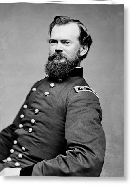 Major General Greeting Cards - Union Major General James McPherson 1862 Greeting Card by Mountain Dreams
