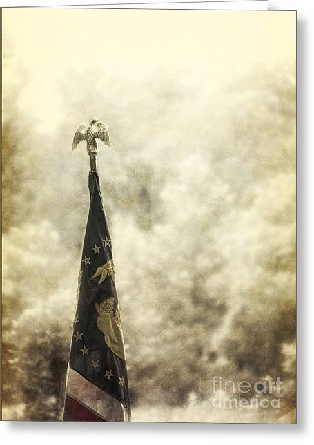 Flags Flying Greeting Cards - Union Greeting Card by Margie Hurwich