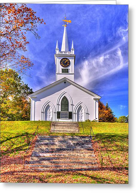 Union Meeting House Greeting Card by Gregory W Leary