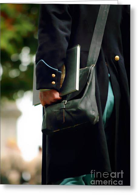 Shoulder Bag Greeting Cards - Union Messenger Greeting Card by Stephanie Frey