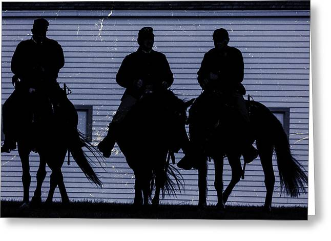 Civil War Site Greeting Cards - Union Night Riders Greeting Card by Steven Bateson