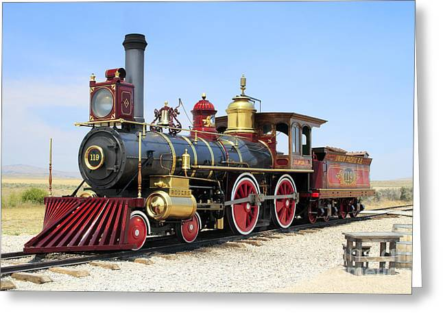 Complete Engines Greeting Cards - Union Pacific 119 Greeting Card by Rick Pisio