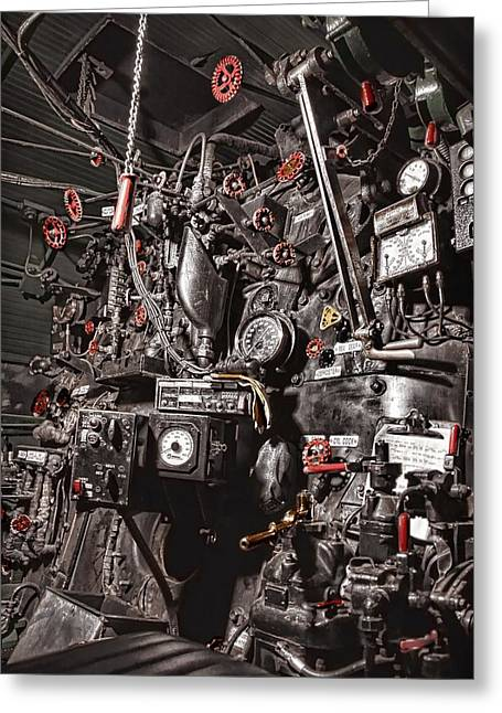 Engine House Greeting Cards - Union Pacific 844 Backhead Detail Greeting Card by Ken Smith