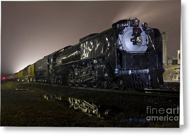 Rail Siding Greeting Cards - Union Pacific 844 Greeting Card by Rick Pisio