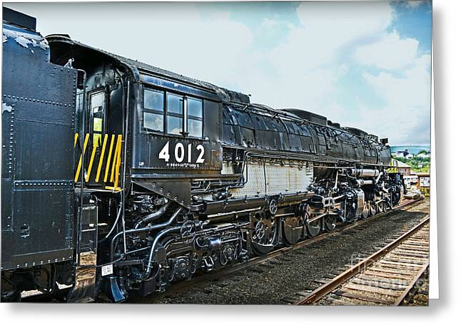 Alco Locomotives Greeting Cards - Union Pacific Big Boy No. 4012 Greeting Card by Gary Keesler
