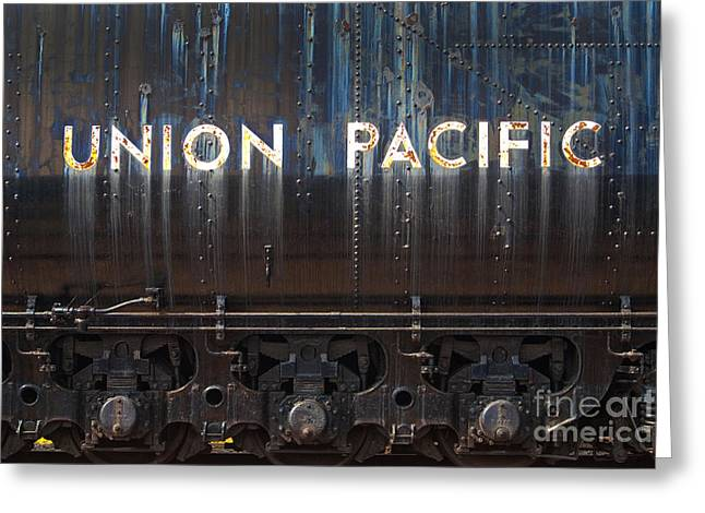 Impressions Of Light Greeting Cards - Union Pacific - Big Boy Tender Greeting Card by Paul W Faust -  Impressions of Light
