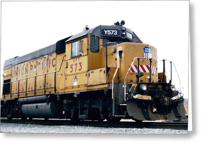 Rail Line Greeting Cards - Union Pacific Yard Master Greeting Card by Steven Milner
