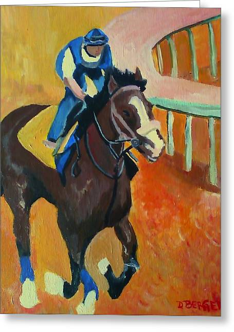 Belmont Stakes Greeting Cards - Union Rags Kentucky Derby  Greeting Card by Darlene Berger