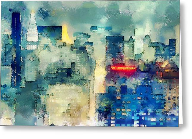 Live Art Greeting Cards - Union Square NYC Greeting Card by Yury Malkov