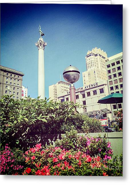 Union Square Photographs Greeting Cards - Union Square San Francisco Greeting Card by Colin and Linda McKie