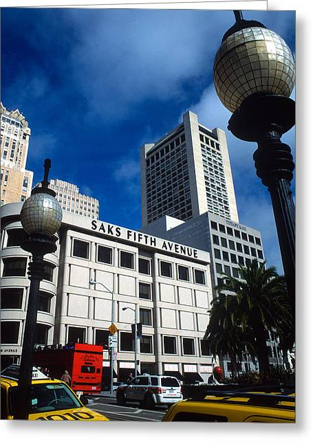 Union Square Greeting Cards - Union Square San Francisco Greeting Card by Kathy Yates
