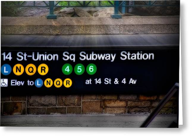 Union Square Photographs Greeting Cards - Union Square Subway Station Greeting Card by Susan Candelario